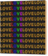Love Neon 1 Wood Print