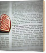 Love Never Fails Wood Print