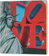 Love New York Wood Print