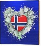 Love Norway 2 Wood Print