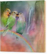 Love On A Rainbow Wood Print by Carol Cavalaris