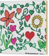 Love On The Vine Wood Print
