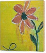 Love Petals Wood Print