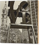 Love Philadelphia Wood Print