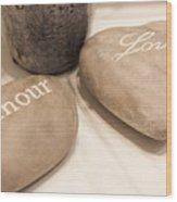 Love Rock Wood Print