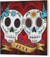 Love Skulls Wood Print by Tammy Wetzel