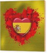 Love Spain Wood Print