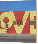 Love Store Front Wood Print