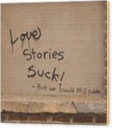 Love Story Wood Print