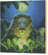 Love, Strength, Wisdom Wood Print