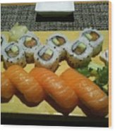 Love Sushi Wood Print