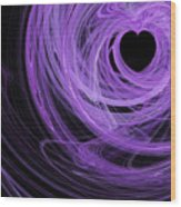 Love Swirls . Square . A120423.689 Wood Print