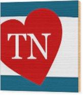 Love Tennessee White Wood Print