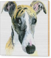Love That Whippet Wood Print