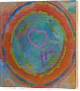 Love The Sea Wood Print