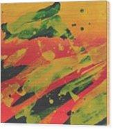 Love Those Diagonals - Yellow 1 Wood Print