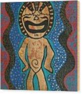Love Tiki Wood Print