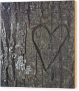 Love Tree Wood Print