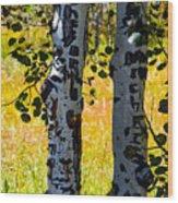 Love Trees Wood Print