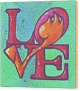 Love Tulips Wood Print