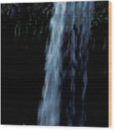 Love Under A Waterfall Wood Print