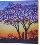 Love Under The Tree Wood Print