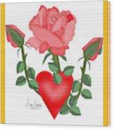 Love Will Grow Wood Print