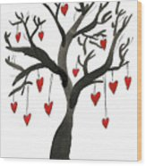 Love Will Grow Wood Print by Sarah Benning