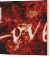 Love With Flowers Wood Print