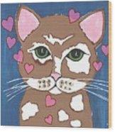 Loveable Cat - Cute Animals Wood Print