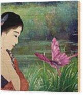Loved By Butterflies Wood Print