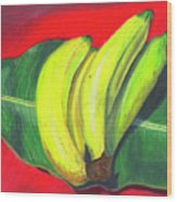 Lovely Bunch Of Bananas Wood Print