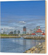 Lovely Day Long Beach Wood Print