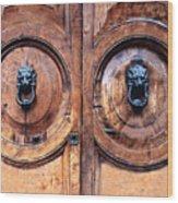 Lovely Double-door   Rome Wood Print