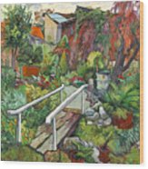Lovely Flower Garden Wood Print