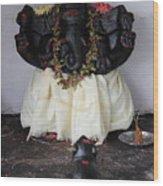 Lovely Ganesha, Valparai Wood Print