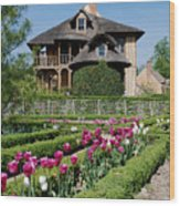 Lovely Garden And Cottage Wood Print by Jennifer Ancker