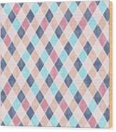 Lovely Geometric Pattern Vi Wood Print
