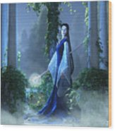 Lovely Is The Night Wood Print by Melissa Krauss