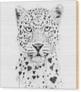 Lovely Leopard Wood Print