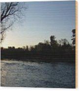 Lovely Light On Mississippi River Wood Print