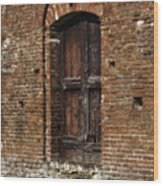Lovely Old Door Wood Print