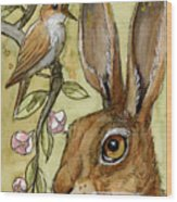 Lovely Rabbits - By Listening To The Song Wood Print
