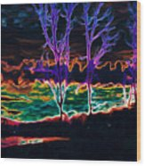 Lovely Sky Wood Print by Savannah Fonner