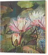 Lovely Waterlilies 7 Wood Print