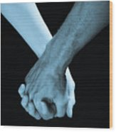Lovers Hands Wood Print