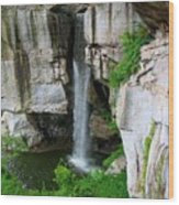 Lover's Leap Waterfall Wood Print