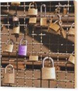 Lovers Locks 2 Wood Print