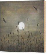 Lovers Moon Wood Print