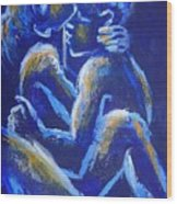 Lovers - Night Of Passion 4 Wood Print